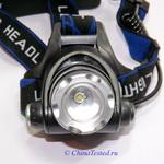 Яркий светодиодный налобный фонарь CREE Q5, обзор
