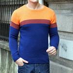 Отличный вязаный шерстяной мужской свитер MULS, большой размер