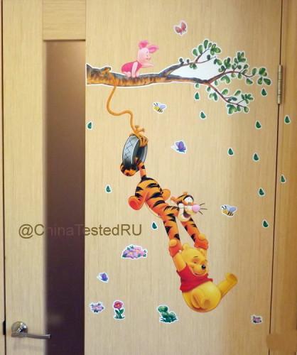 Мультяшный декор двери