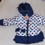 Детская теплая зимняя курточка с Микки Маусом для девочки