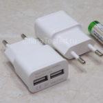 Недорогое сетевое зарядное устройство 2USB для телефона, планшета