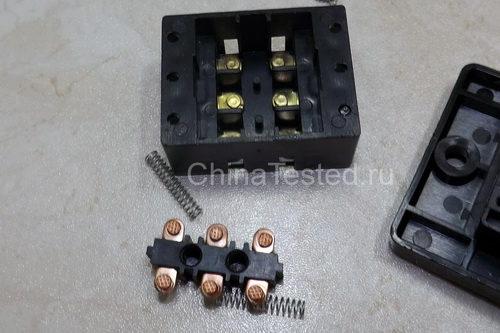Силовые контакты кнопки для бетономешалки