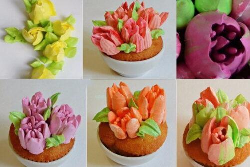 что сделать из Кондитерские насадки Цветок