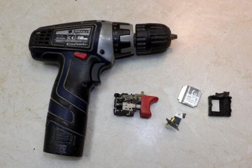 Ремонт кнопки шуруповёрта nikkey Jlevel FA021-58017.2-24V DC 16A